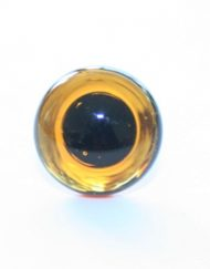 Medium Topaz glass eye for teddy bear making
