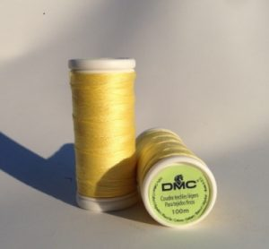 DMC Cotton Thread Yellow
