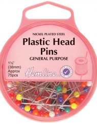 Hemline Plastic Head Pins