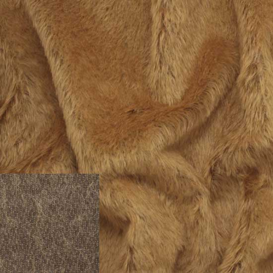 Helmbold Mohair Fabric Gold On Brown