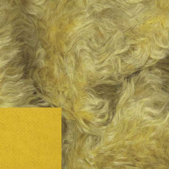Helmbold 20mm Mohair Fabric Old Gold