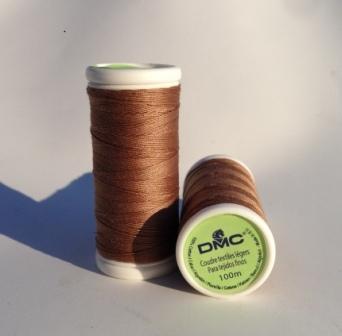 DMC Cotton Sewing Thread Light Brown (2204)