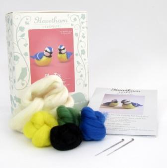 Hawthorn Handmade Blue Tits Needle Felting Kit