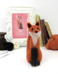 British Fox Needle Felting Kit from Hawthorn Handmade