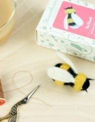 Needle Felted Bee Brooch Kit from Hawthorn Handmade.