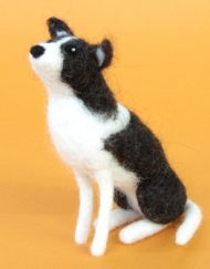 Hawthorn Handmade Border Collie Needle Felting