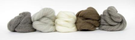 Natural undyed British Wool tops for needle felting