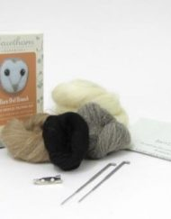 Hawthorn Handmade Needle Felting Barn Owl Brooch Kit