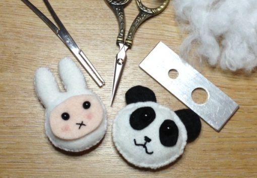 Amazing Craft Quick Kit Felt Panda & Rabbit Fridge Magnet