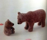 Wild & Tame Needlefelted Bear