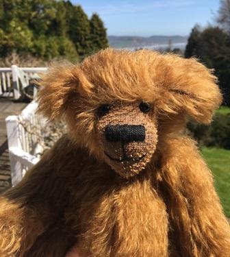 Charlie Bear by the sea