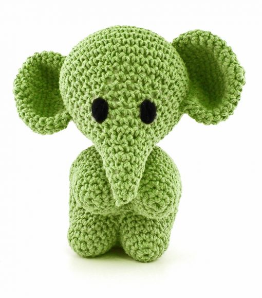 Hoooked crochet kit - Elephant Lima Green