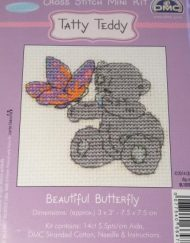 DMC Tatty Teddy Cross Stitch Beautiful Butterfly