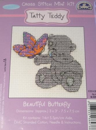 "GENUINE DMC ME TO YOU /""TATTY TEDDY/"" COUNTED CROSS STITCH MINI KIT-VARIOUS DESIGN"