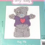 DMC Tatty Teddy Mini Cross Stitch Hug Me