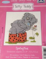DMC Tatty Teddy Mini Cross Stitch Springtime