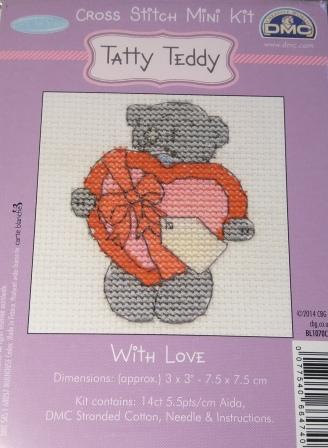 DMC Tatty Teddy Cross Stitch With Love
