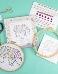 Hawthorn Handmade Contemporary Embroidery Kit - Bear