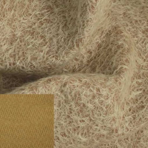 12mm Sparse Ratinee Mohair Fabric - Coffee Whip