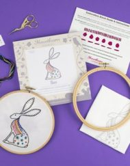 Hawthorn Handmade Contemporary Embroidery Kit - Hare