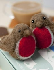 British Robin Needle Felting Kit from Hawthorn Handmade