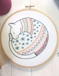 Hawthorn Handmade Contemporary Embroidery Kit - Cat