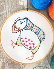 Hawthorn Handmade Contemporary Embroidery Kit - Puffin