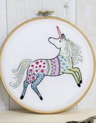 Hawthorn Handmade Contemporary Embroidery Kit - Unicorn