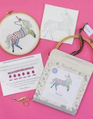 Hawthorn Handmade Unicorn Embroidery Kit