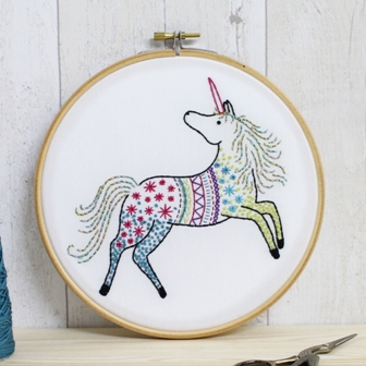 Hawthorn Handmade Contemporary Embroidery Kit - Unicorn