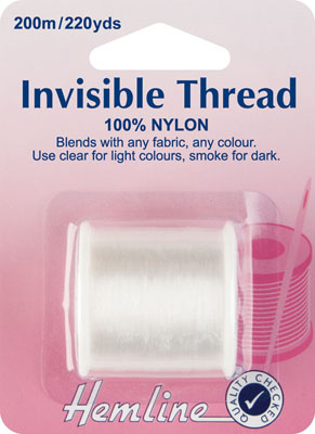 Hemline Invisible Thread Clear