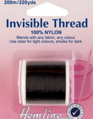 Hemline Invisible Thread Smoke