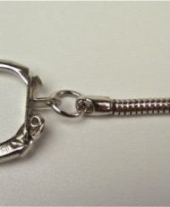 Nickel Plated Metal Key Rings