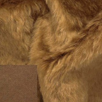 Helmbold Mohair Fabric Amber on Brown