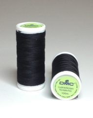 DMC Cotton Sewing Thread Noir (Black)