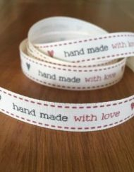 Berisfords Handmade with love ribbon