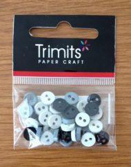 Trimit Black & Grey Mini Buttons 0.6mm