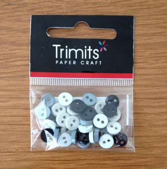 Trimit Black & Grey Mini Buttons 0.6mm