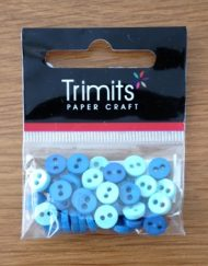 Trimits Blue Mini Buttons 0.6mm