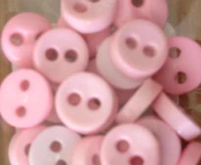 Trimits Pink Mini Buttons 0.6mm