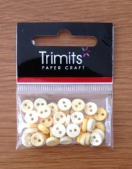 Trimits Yellow Mini Buttons 0.6mm