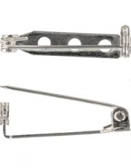 Silver Plated 25mm Brooch Backs