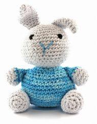 Hoooked, crochet kit, nala rabbit blue