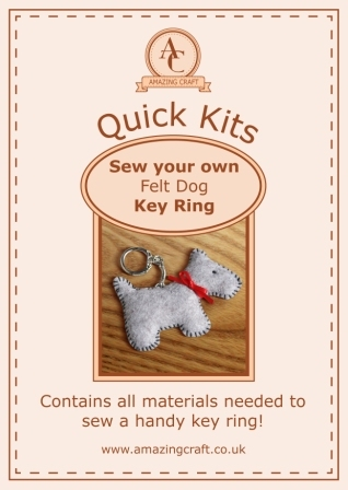 Amazing Craft Quick Kit Felt Dog Key Ring