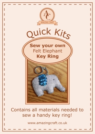 Amazing Craft Quick Kit Felt Elephant Key Ring