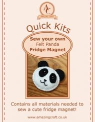 Amazing Craft Quick Kit Felt Panda Fridge Magnet