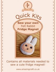 Amazing Craft Quick Kit Felt Rabbit Fridge Magnet