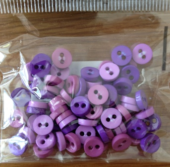 Purple and lilac mini buttons