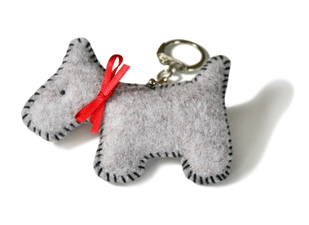 Quick Kit Felt Dog Key Ring