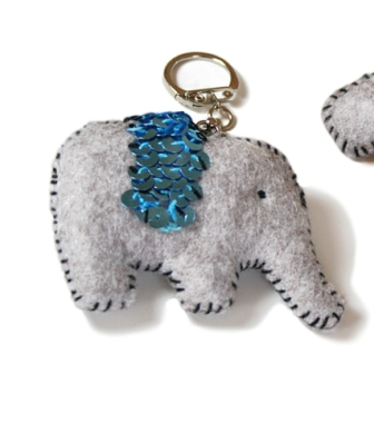 Quick Kit Felt Elephant Key Ring